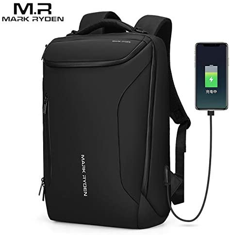 Backpacks - Mark Ryden 2019 New Anti-theft Fashion Men Backpack Multifunction Waterproof 15.6inch Laptop Bag Man USB Travel Charging Bag (black 15.6 inch)