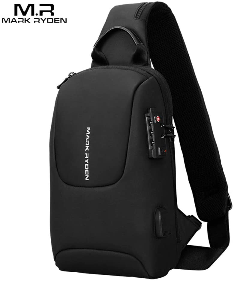 Explopur Crossbody Bag Men - Mark Ryden Tsa Lock Crossbody Men Bag Waterproof Usb Charge Chest Pack Short Travel Messengers Chest Shoulder Bag Men