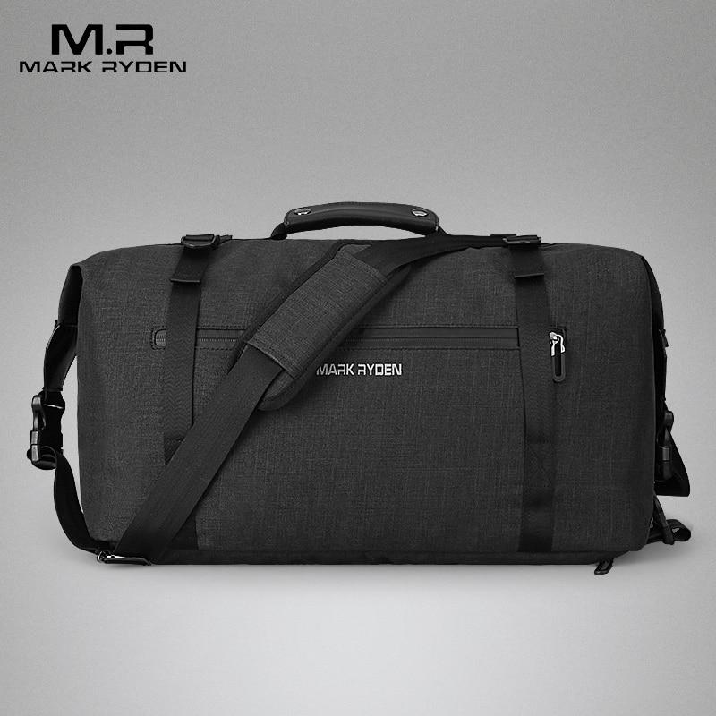Дорожная сумка-рюкзак черная