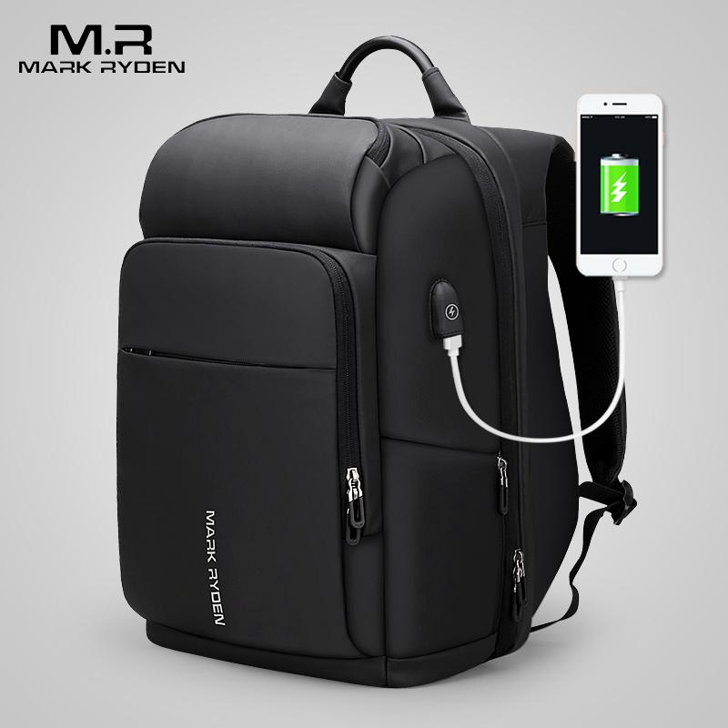 Марк Райден 15 дюймов рюкзак для ноутбука для мужчин Водонепроницаемый Функциональная сумка с USB Порты и разъёмы дорожная сумка мужской рюкзак