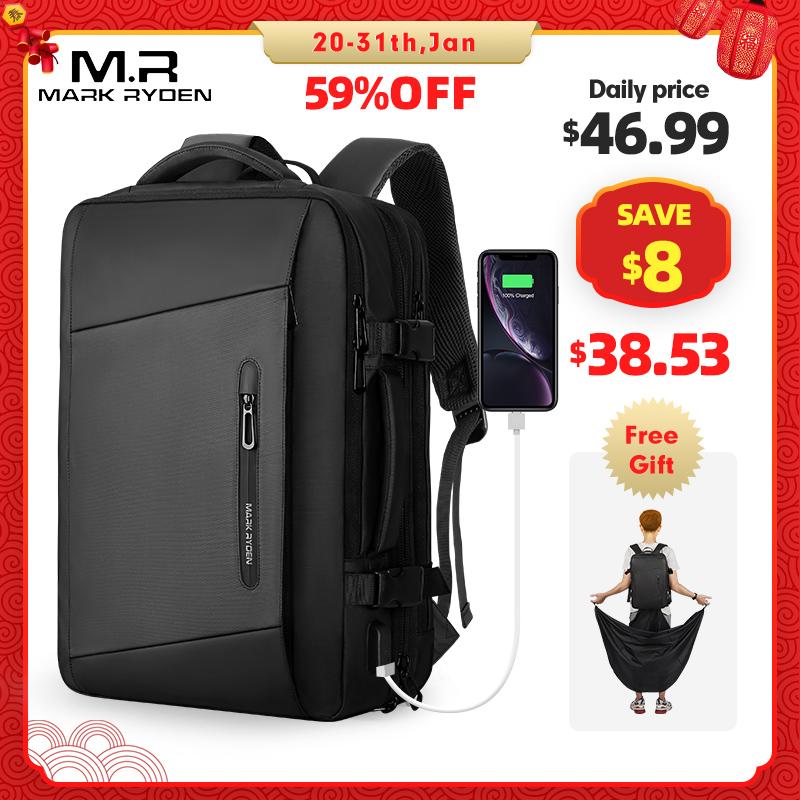 Mark Ryden, 17 дюймов, рюкзак для ноутбука, дождевик, мужская сумка, USB подзарядка, многослойная, космическая, дорожная, мужская сумка, анти вор, Mochila