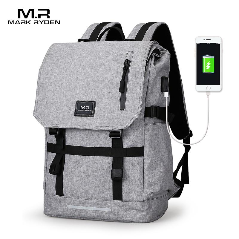 Mark Ryden, большая вместительность, 15,6 дюймов, сумка для ноутбука, Мужской USB дизайн, рюкзак, сумка, черный рюкзак, женские школьные сумки, Mochila Masculina