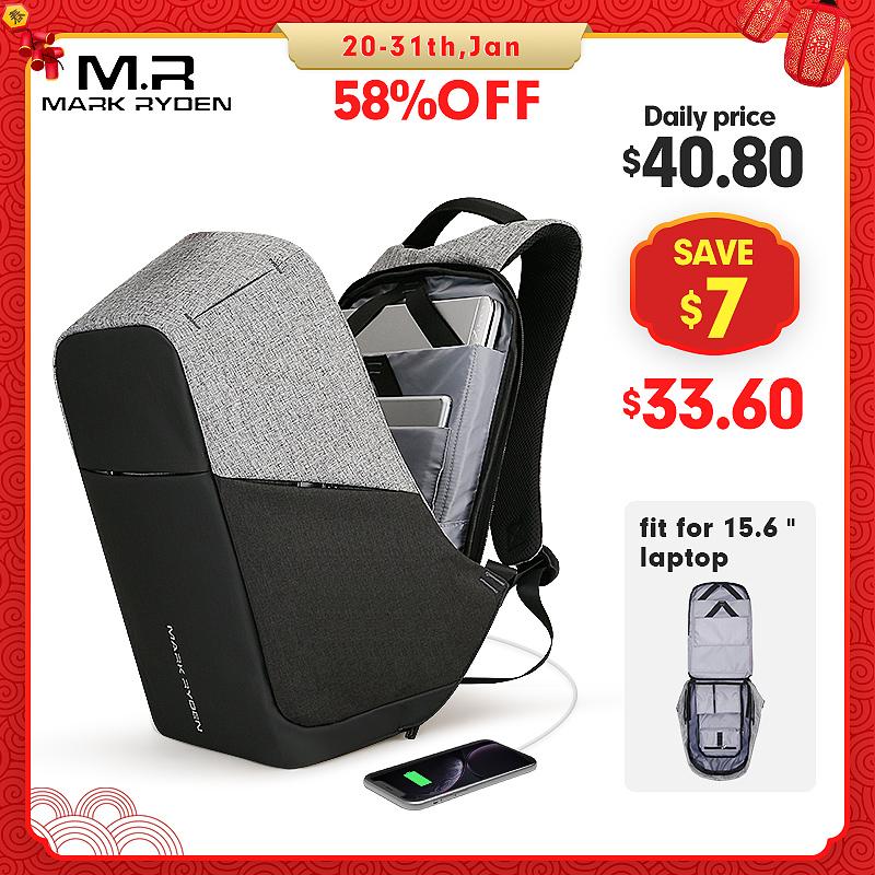 Mark Ryden, многофункциональные мужские рюкзаки с USB зарядкой, 15 дюймов, для ноутбука, для подростка, модный мужской рюкзак для путешествий Mochila, анти вор