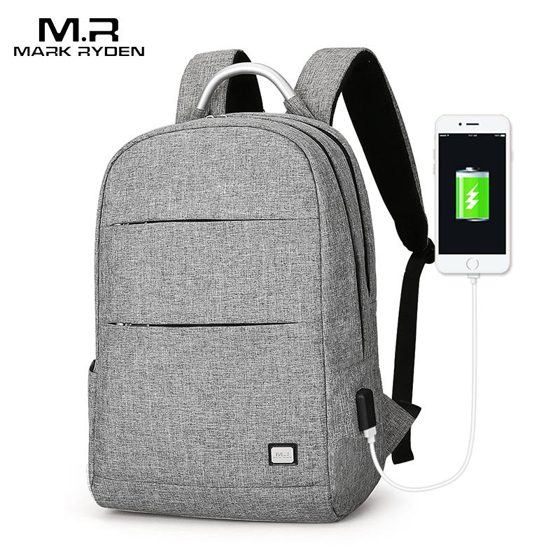 Mark Ryden мужской рюкзак анти вор Водонепроницаемая Портативная сумка может поместиться 15,6 дюймов ноутбук мужские сумки