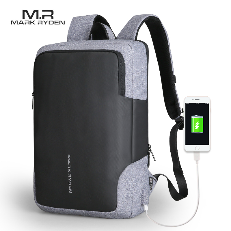 Mark Ryden мужской рюкзак бизнес Многофункциональный USB подзарядка 15 дюймов ноутбук рюкзак водостойкий рюкзак