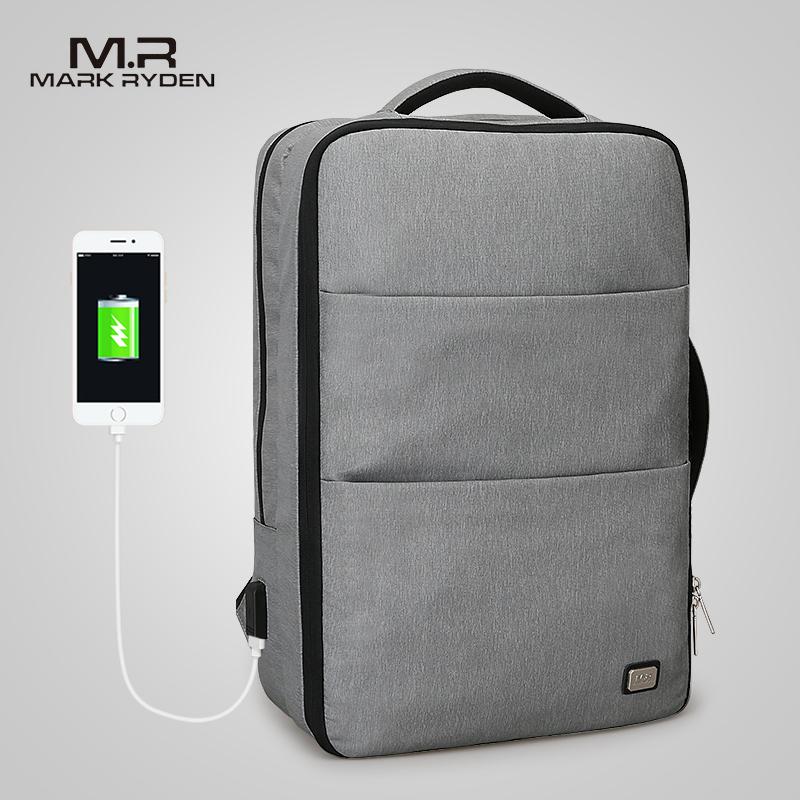 Mark Ryden мужской рюкзак для ноутбука, деловые сумки с usb зарядным портом, Школьный Рюкзак Для Путешествий, подходит для ноутбука 15,6 дюймов