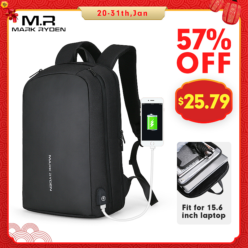 Mark Ryden, мужской рюкзак, многофункциональный, с USB подзарядкой, подходит для 15,6 дюймового ноутбука, повседневные рюкзаки для мужчин