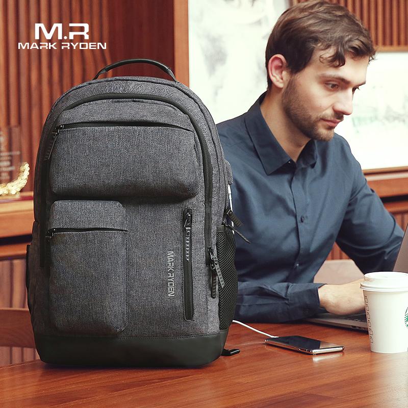 Mark Ryden мужской рюкзак, многослойный, Космический, 15,6 дюймов, для ноутбука, USB, для подзарядки, для путешествий, мужская сумка, анти вор, Mochila