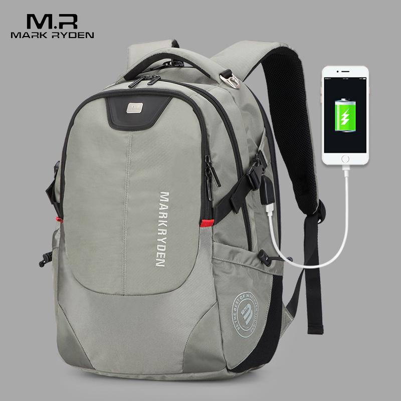 Mark Ryden, мужской рюкзак, модный, многофункциональный, usb зарядка, для мужчин, 15 дюймов, для ноутбука, рюкзаки, сумка для мужчин