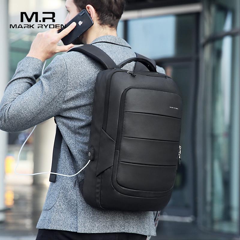 Mark Ryden мужской рюкзак подходит для 15,6 дюймового ноутбука Многофункциональный USB подзарядка водонепроницаемый дорожная мужская сумка Анти Вор Mochila