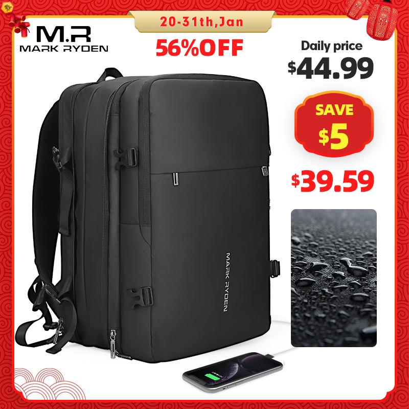 Mark Ryden мужской рюкзак подходит для 17 дюймов ноутбука USB подзарядка многослойная космическая дорожная мужская сумка Анти Вор Mochila