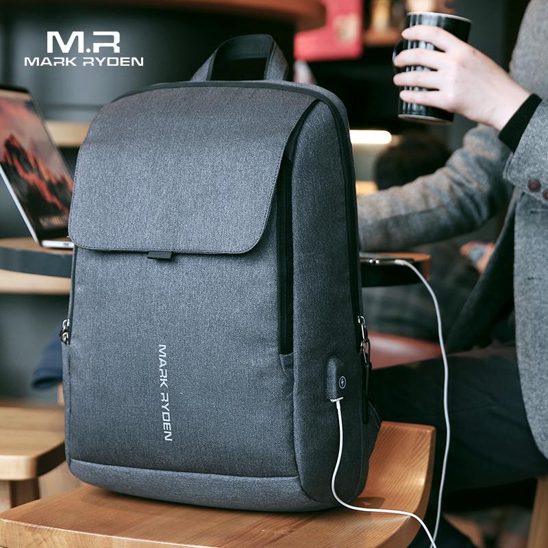 Mark Ryden мужской рюкзак с USB подзарядкой 15,6 дюймов, школьная сумка для ноутбука для мальчика, мужская дорожная водонепроницаемая сумка Mochila