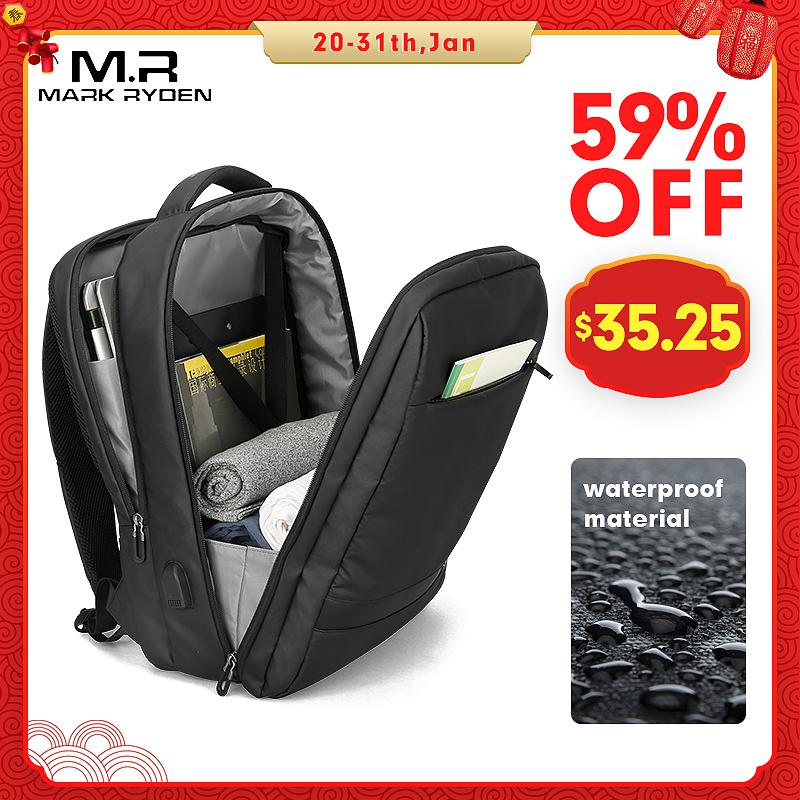 Mark Ryden мужской рюкзак с защитой от воровства USB 15,6 дюймов, сумки для ноутбука для мужчин, многослойная школьная сумка, Мужская Дорожная сумка Mochila