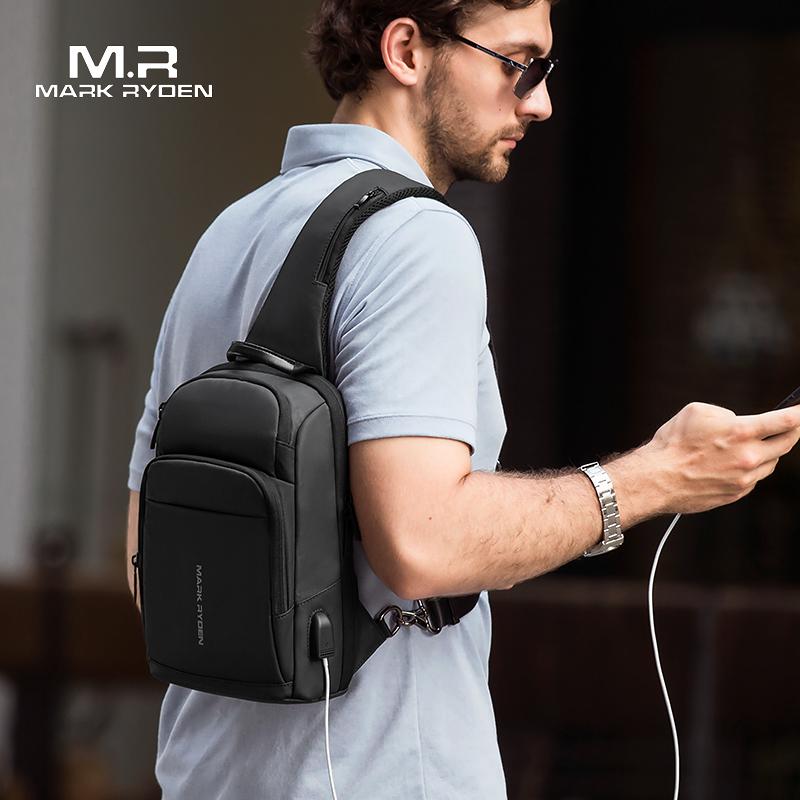 Mark Ryden новая Анти Вор Слинг Сумка водонепроницаемая мужская сумка через плечо подходит 9,7 дюймов Ipad модная сумка через плечо on AliExpress