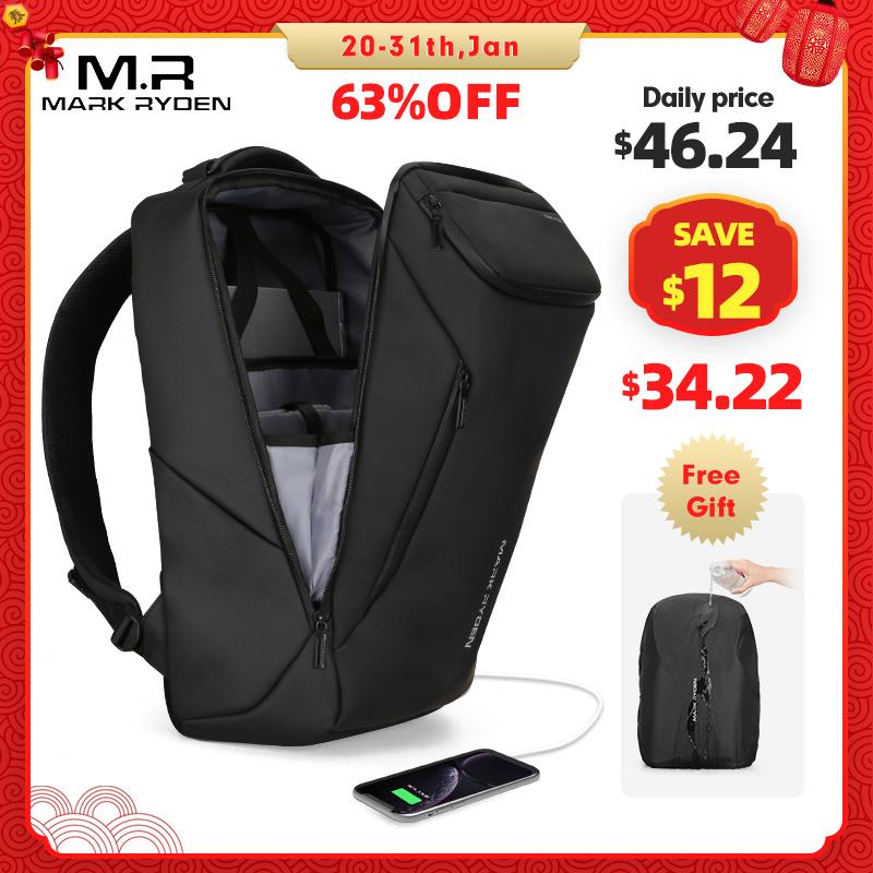 Mark Ryden, новинка 2020, модный мужской рюкзак с защитой от воров, многофункциональный, водонепроницаемый, 15,6 дюймов, сумка для ноутбука, мужская, зарядка через usb, дорожная сумка