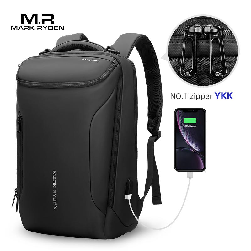 Mark Ryden, новинка 2020, обновленный YKK на молнии, 15,6 дюймов, мужской рюкзак для ноутбука, Противоугонный мужской рюкзак, Подростковый рюкзак, мужская сумка, Mochila on AliExpress