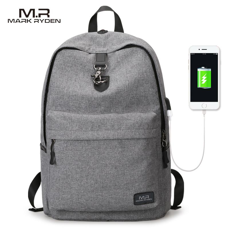 Mark Ryden, Новое поступление, четыре цвета, USB дизайн, рюкзак для мужчин, мужской, студенческий, рюкзак, выходные, Mochila