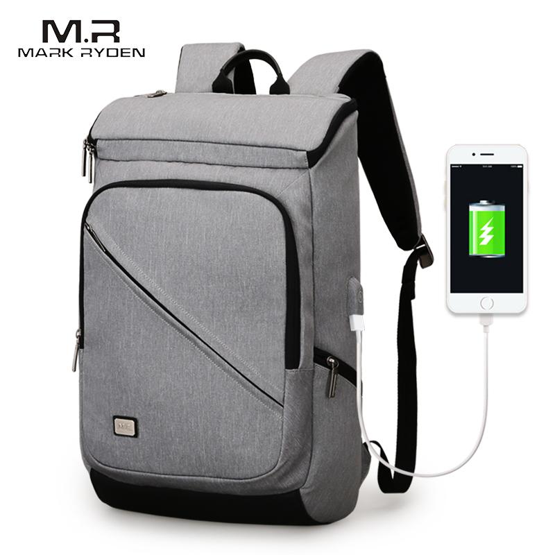 Mark Ryden, Новое поступление, мужской бизнес рюкзак с USB подзарядкой, подходит для 15,6 дюймов, рюкзак для ноутбука, дорожная сумка на короткое расстояние