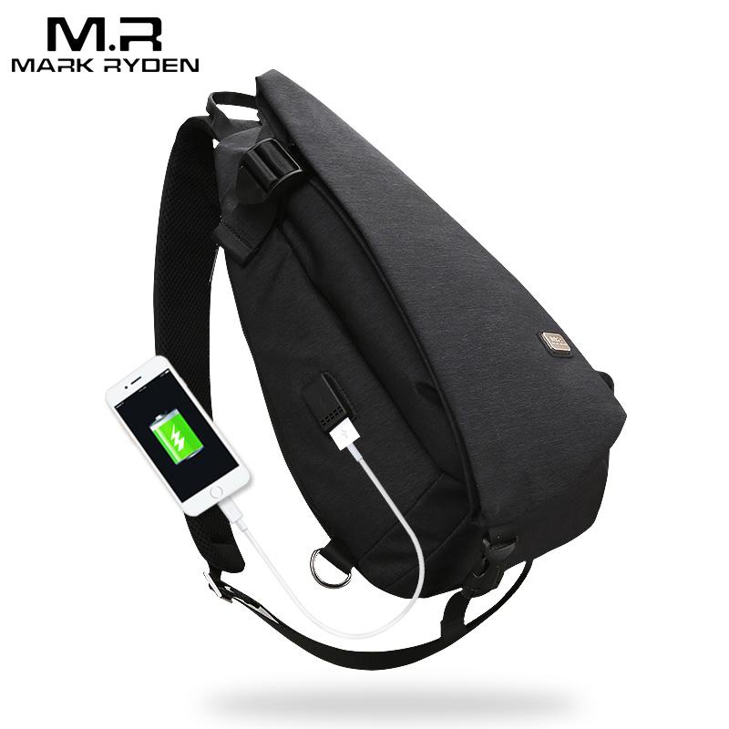 Mark Ryden, Новое поступление, USB дизайн, Большая вместительная нагрудная сумка, мужская сумка через плечо, костюм для 9,7 дюймов, водоотталкивающая сумка на плечо