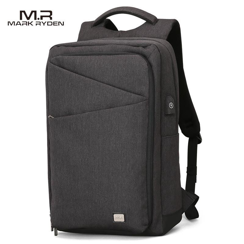 MARK RYDEN, новый мужской рюкзак, вместительная сумка для путешествий, зарядка через usb, 15,6 дюймов, рюкзак для ноутбука, для студентов колледжа