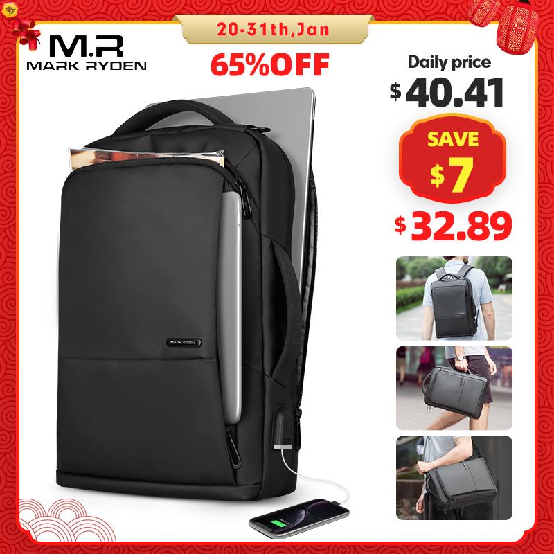 Mark Ryden, рюкзак для путешествий, большая вместительность, для подростков, для мужчин, Mochila, анти вор, сумка, usb зарядка, 15,6 дюймов, рюкзак для ноутбука, водонепроницаемый