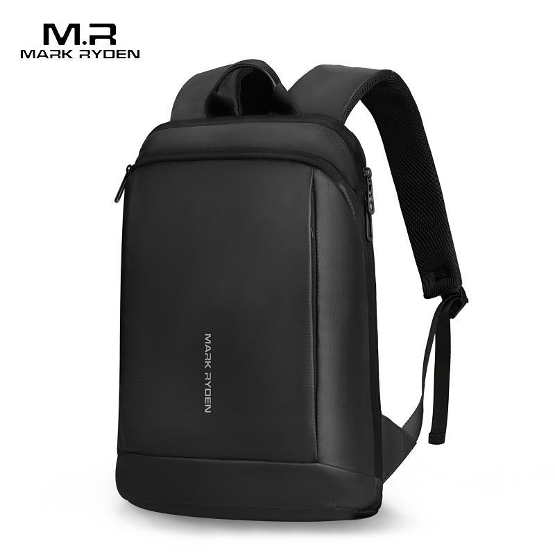 Mark Ryden, тонкий мужской рюкзак для ноутбука, тонкая задняя часть, 15,6 дюймов, рабочий мужской рюкзак, деловая сумка, унисекс, черный сверхлегкий рюкзак