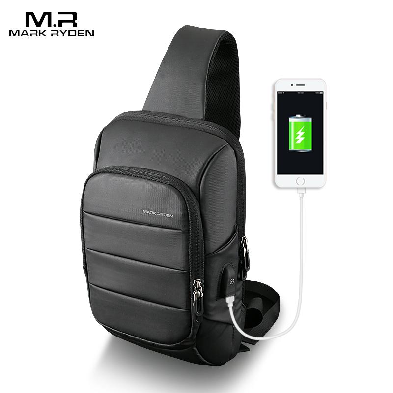Mark Ryden 2020 Слинг Сумка для мужчин USB зарядка сумка через плечо водостойкая сумка через плечо большая емкость Оксфорд сумка через плечо|sling bag for men|sling bagbag for | АлиЭкспресс