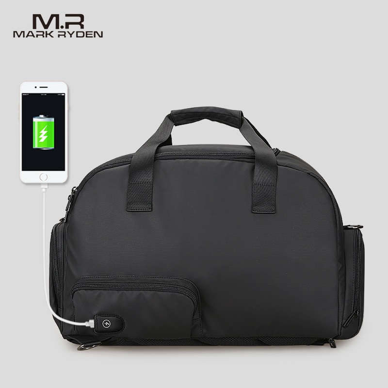 Мужская Дорожная сумка Mark Ryden, водонепроницаемая сумка большой вместимости с usb зарядкой|Дорожные сумки| | АлиЭкспресс